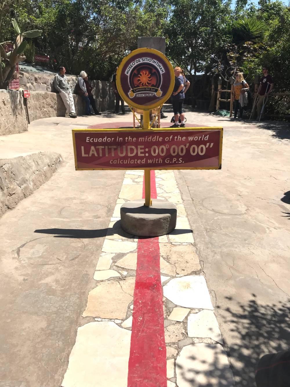 In Quito kann man die Mitte der Welt besuchen