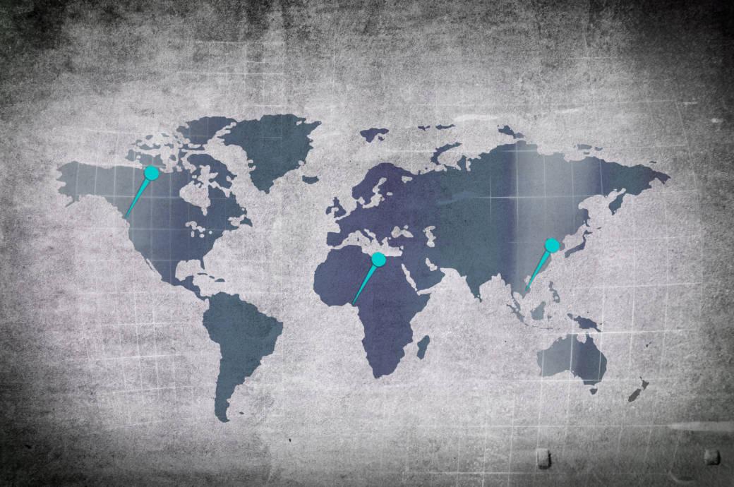 Weißt du, welche 10 Hauptstädte hier markiert sind?