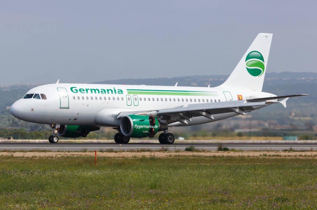 Die Berliner Airline Germania steckt offenbar in finanziellen Schweirigkeiten