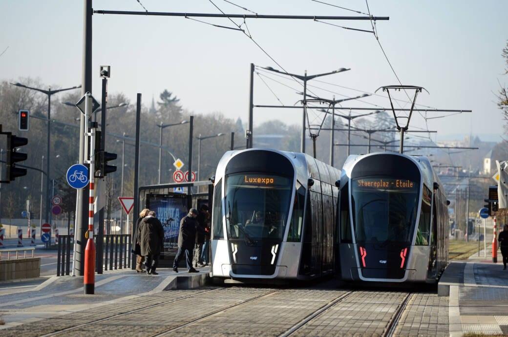 Tram-Station Luxemburg