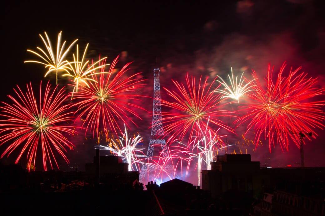 Nationalfeiertag in Frankreich, Feuerwerk am Eiffelturm