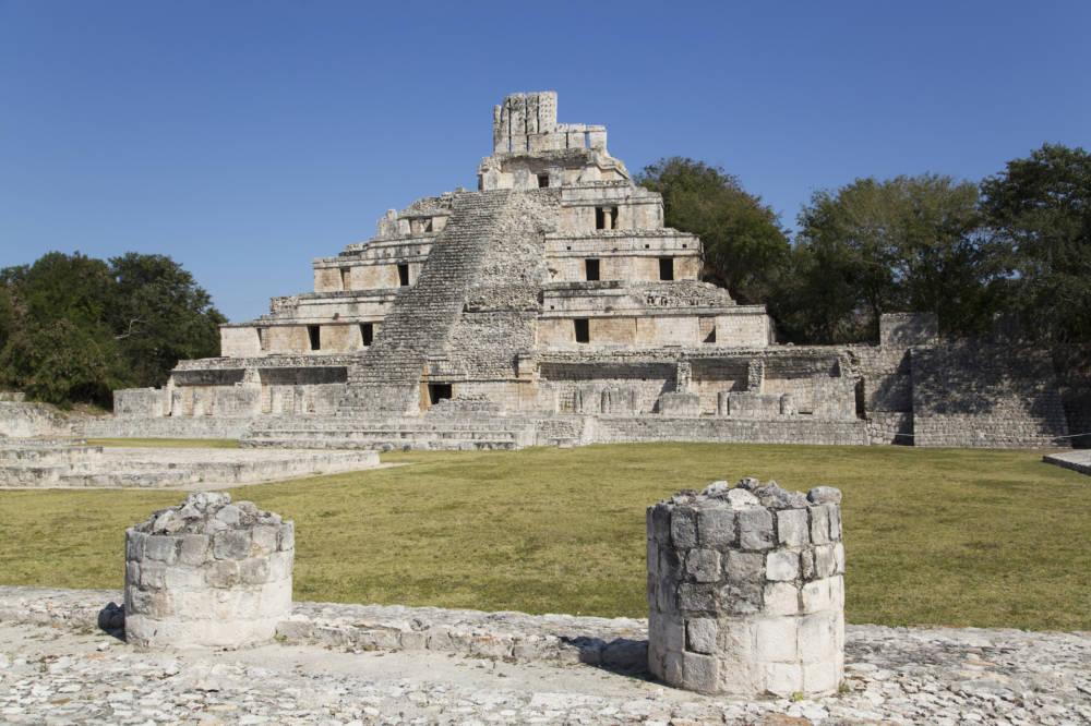 Die Ruinenstätte von Edzna in Campeche