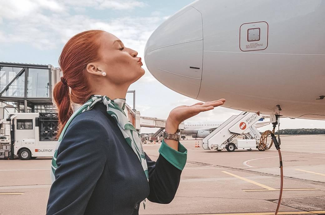 Normalerweise ist das Flugzeug für Jana der Arbeitsplatz – doch manchmal fliegt sie auch privat