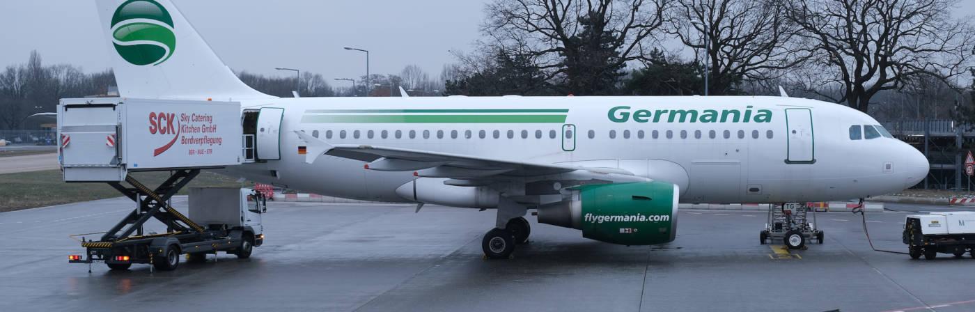 Seit zwei Tagen hebt kein Germania-Flieger mehr ab