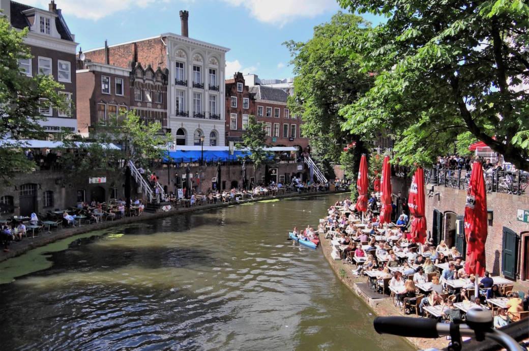 Gracht im Zentrum von Utrecht
