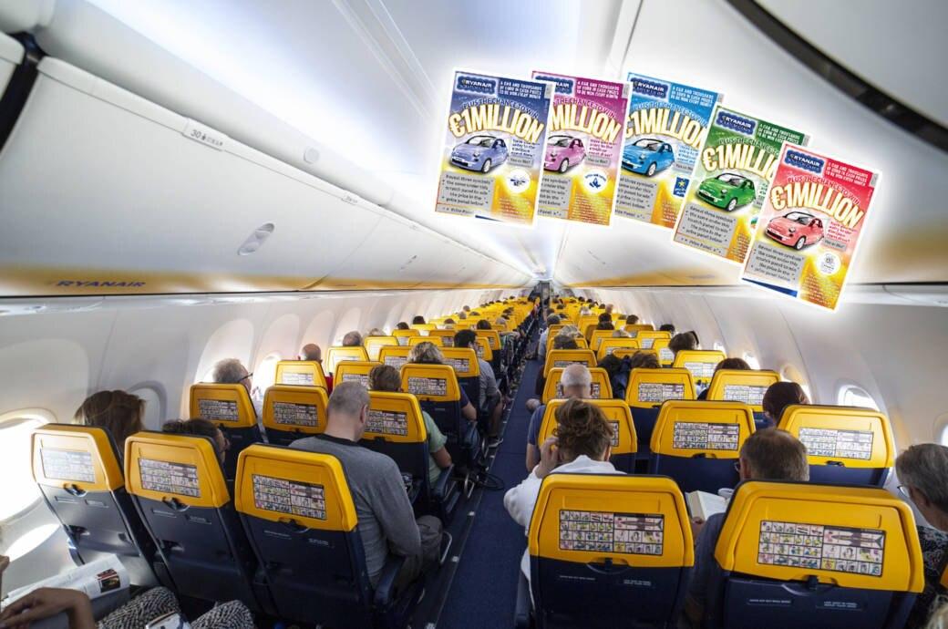 Wer mit Ryanair fliegt, sollte auf den Kauf von Rubbellosen an Bord besser verzichten