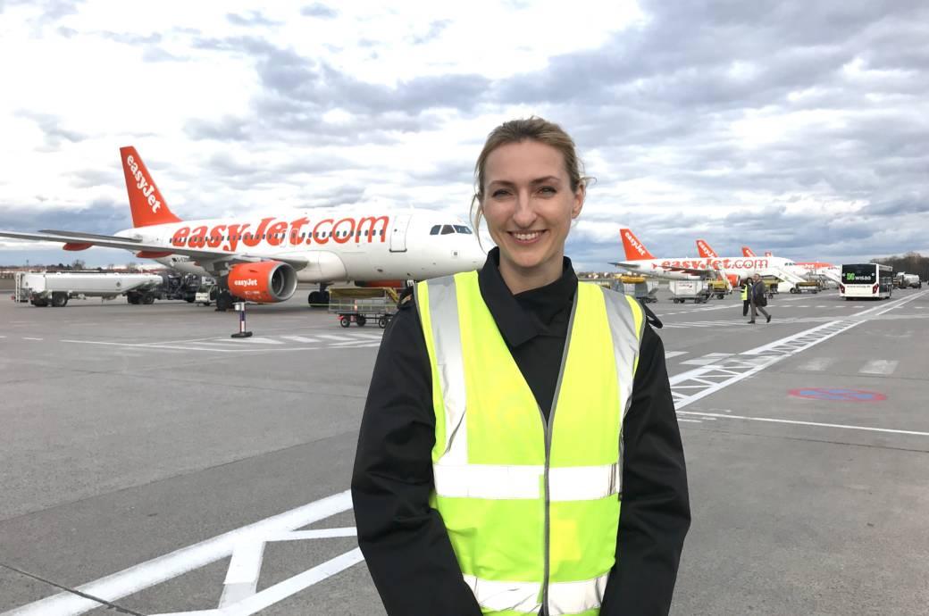Julia Peukert ist aktuell Pilotin bei Easyjet