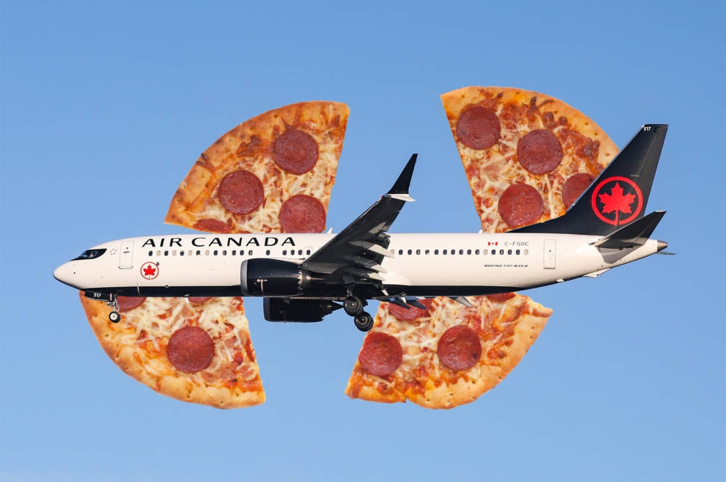 Pilot bestellt Pizza für alle Passagiere und die Crew!
