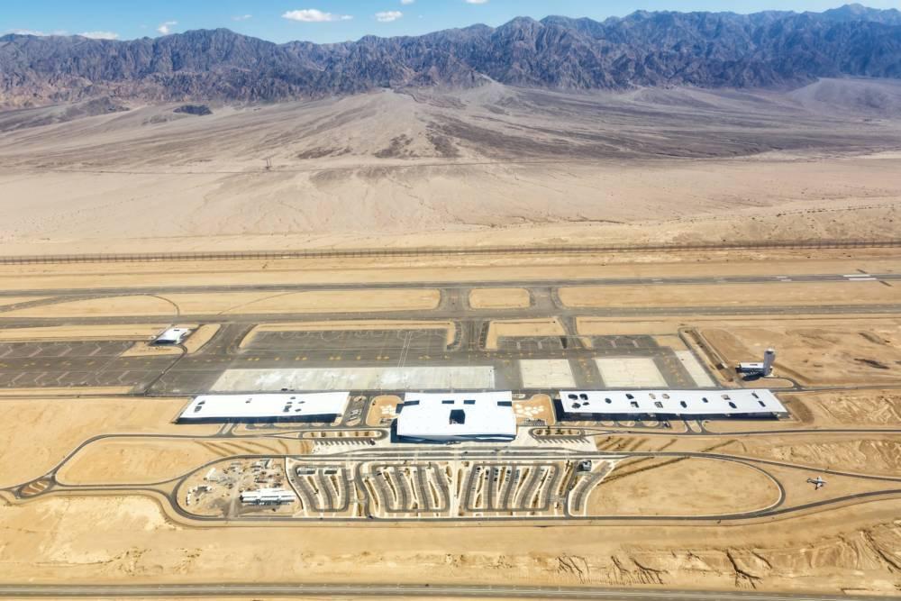 Flughafen Eilat Ramon Airport ETM Luftaufnahme