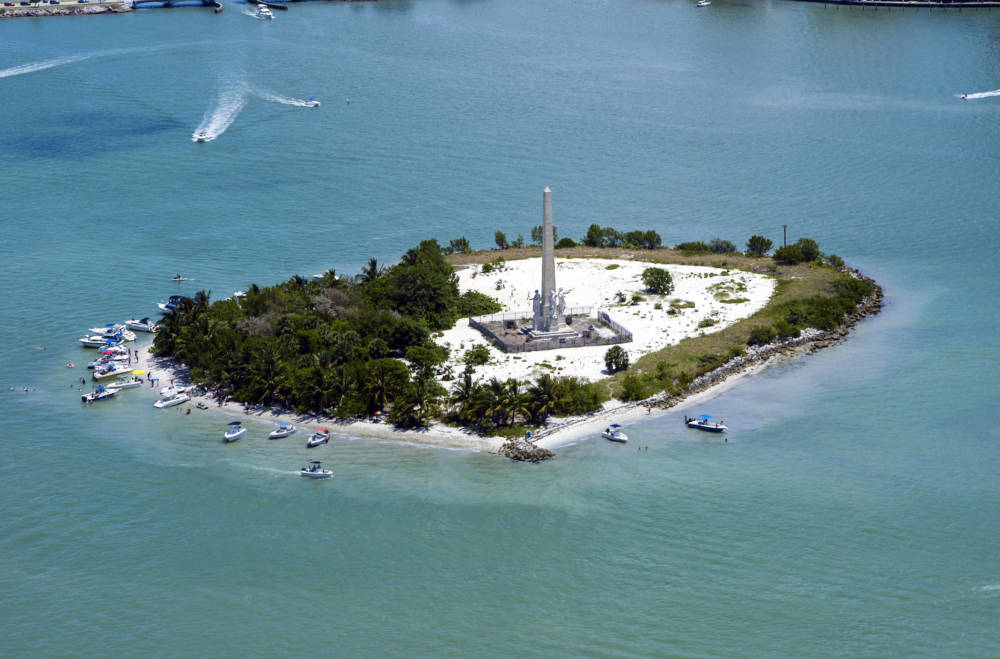 Flagler Memorial Island vor Miami Beach, Florida