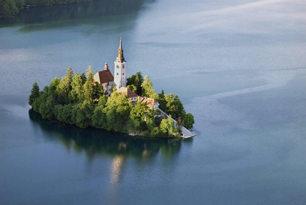 Insel im Bleder See, Slowenien