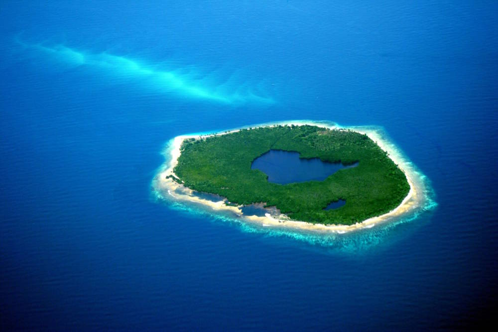 Insel auf den Philippinen