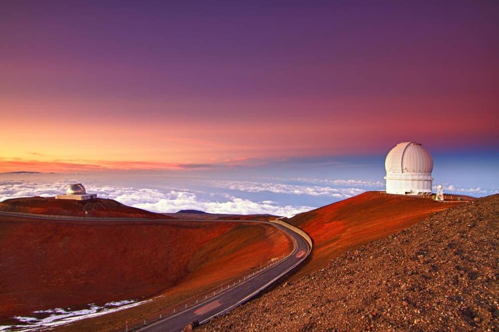Vor allem zum Sonnenauf- oder untergang ist der Blick vom Mauna Kea ein einmaliges Erlebnis
