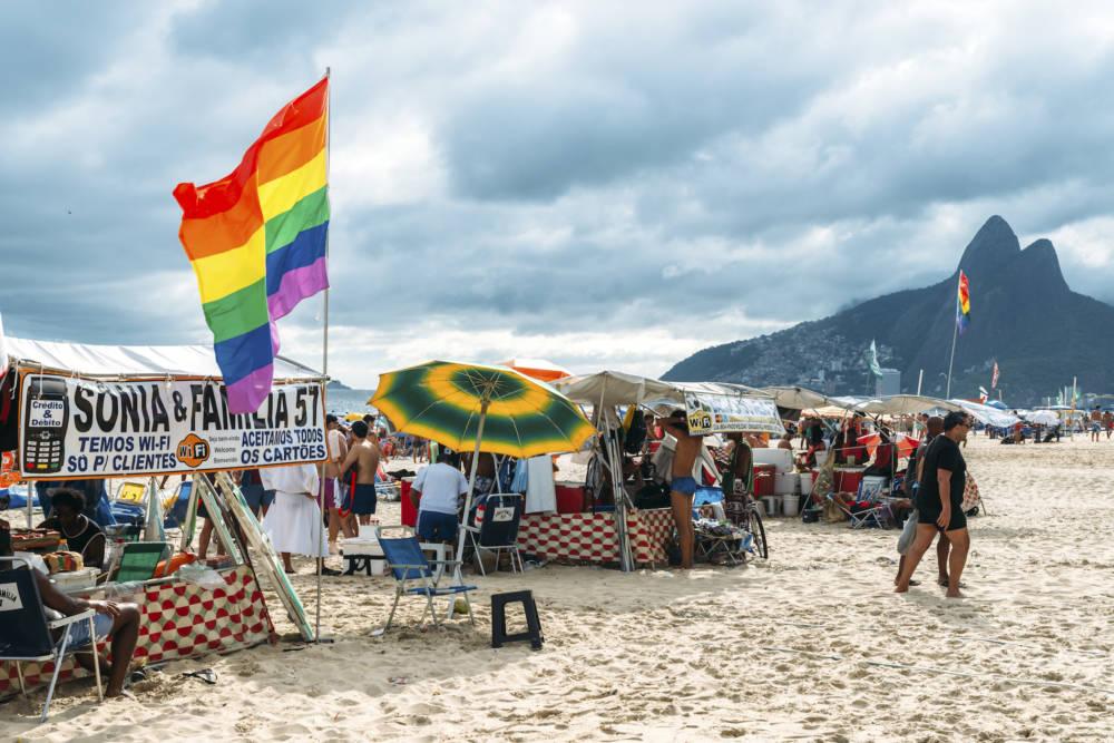 Der LGBT-Spot am Strand von Ipanema: Posto 8