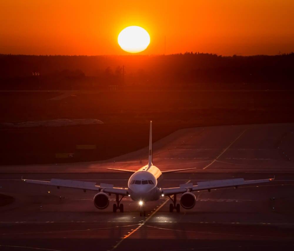 Gelandetes Flugzeug