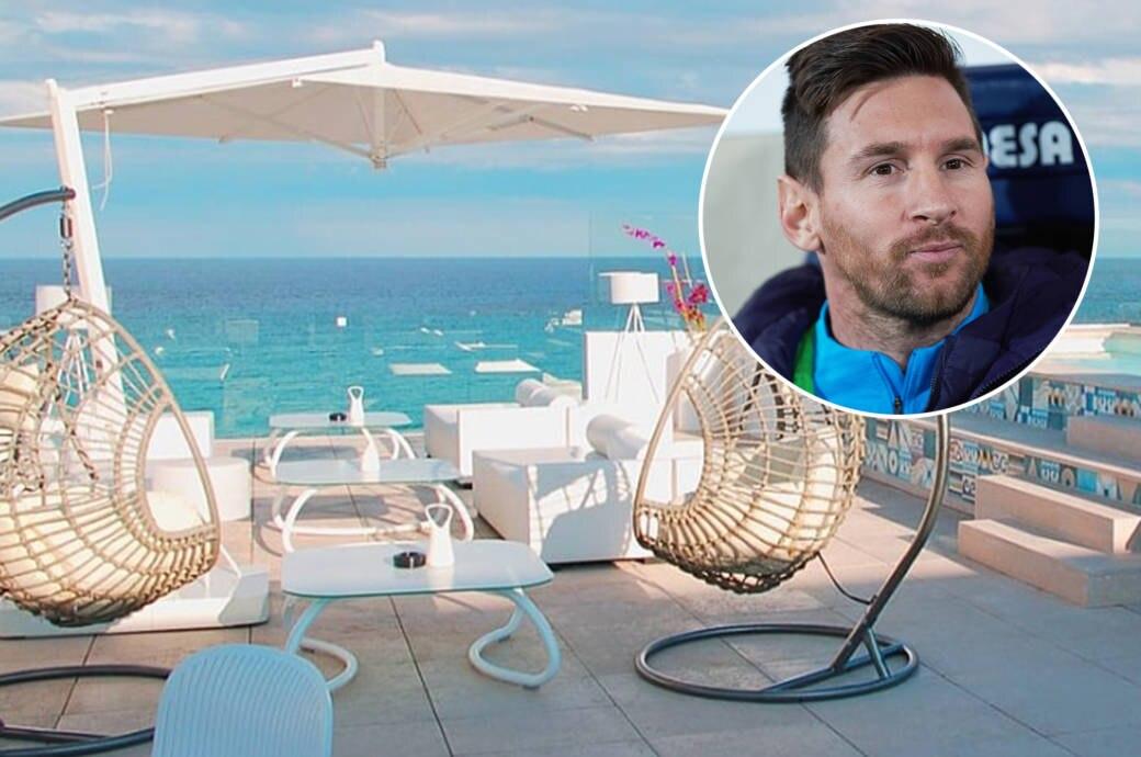 Die Terrasse von Lionel Messis neu erworbenem Hotel auf Mallorca
