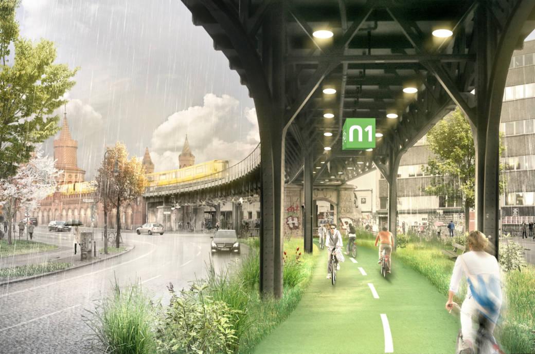 Das wird die erste Radbahn der Hauptstadt