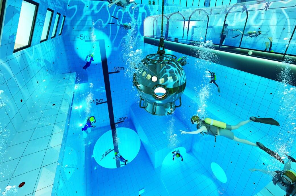 So soll er aussehen, wenn er im Herbst eröffnet: Der tiefste Pool der Welt!