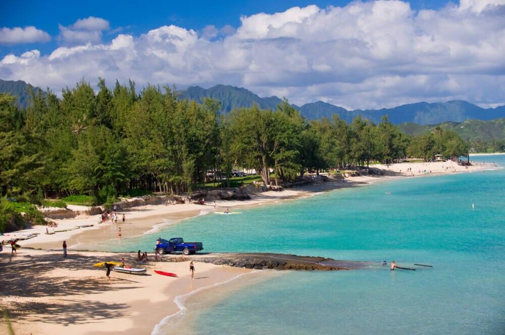 Der Kailua Beach Park auf Hawaii