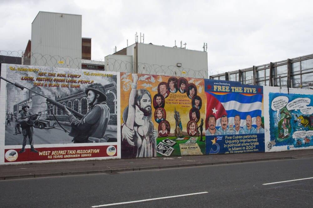Falls-Viertel in Belfast