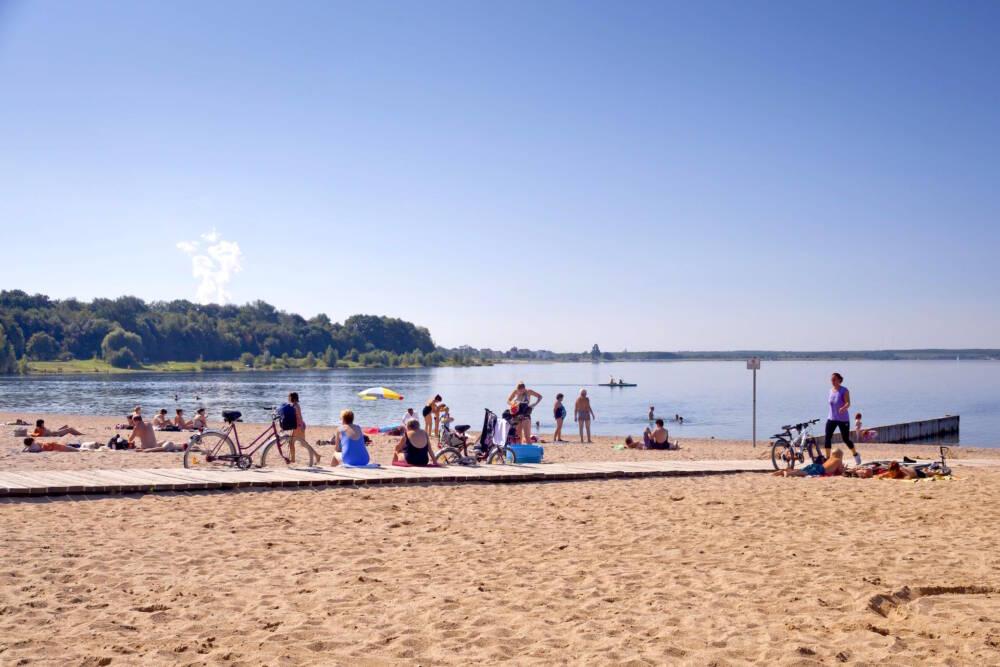 Der Nordstrand am Cospudener See bei Leipzig