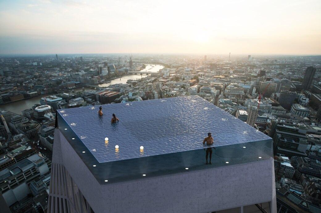 So soll er aussehen, falls er gebaut wird: Der Infinity-Pool in London