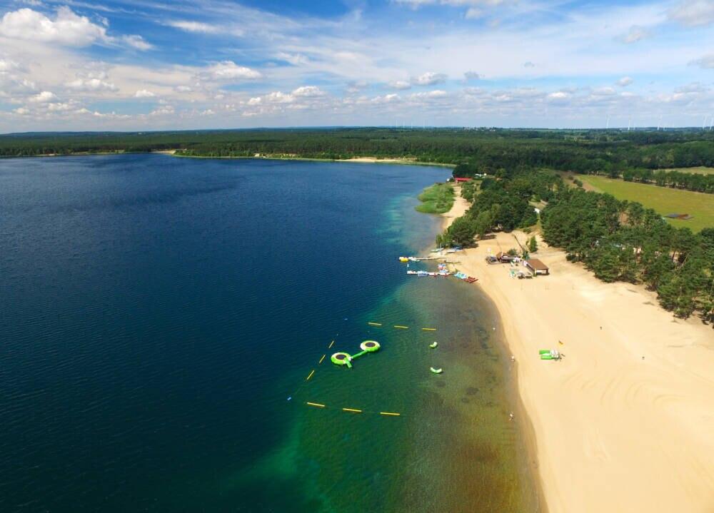 Der Helenesee in Brandenburg hat besonders sauberes Wasser