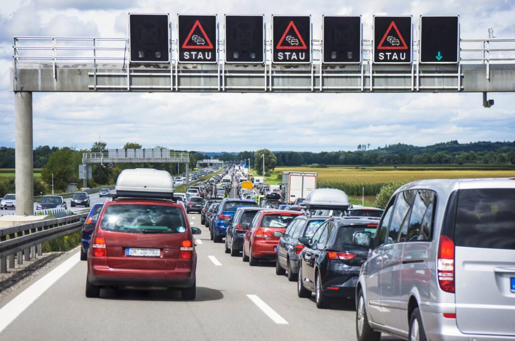 Auch dieses Wochenende wieder viele Staus auf den Autobahnen
