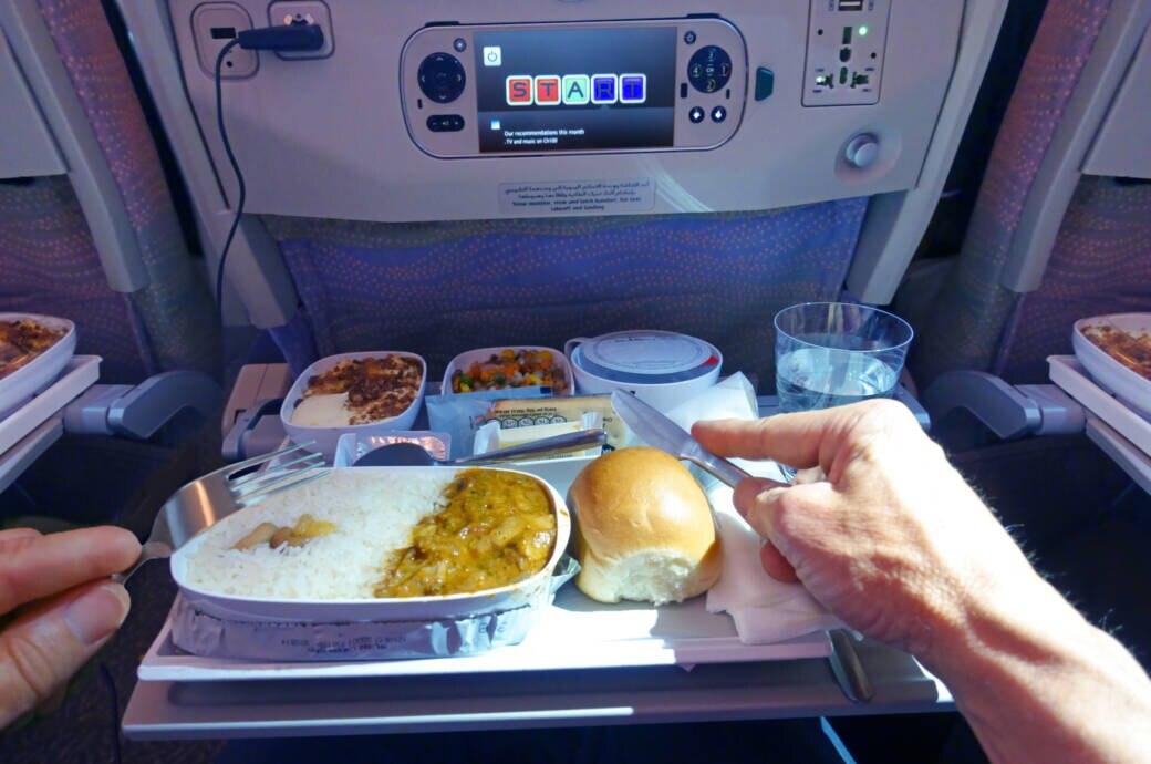 Das Essen im Flugzeug ist eindeutig Geschmackssache