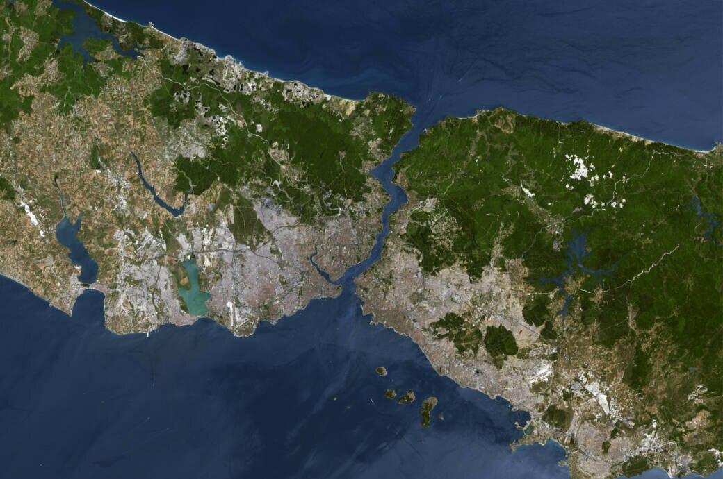 Satellitenbild von Istanbul