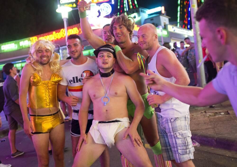 Magaluf Party-Touristen