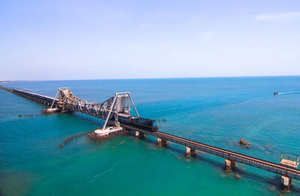Chennai-Rameswaram-Eisenbahn, Pamban Bridge