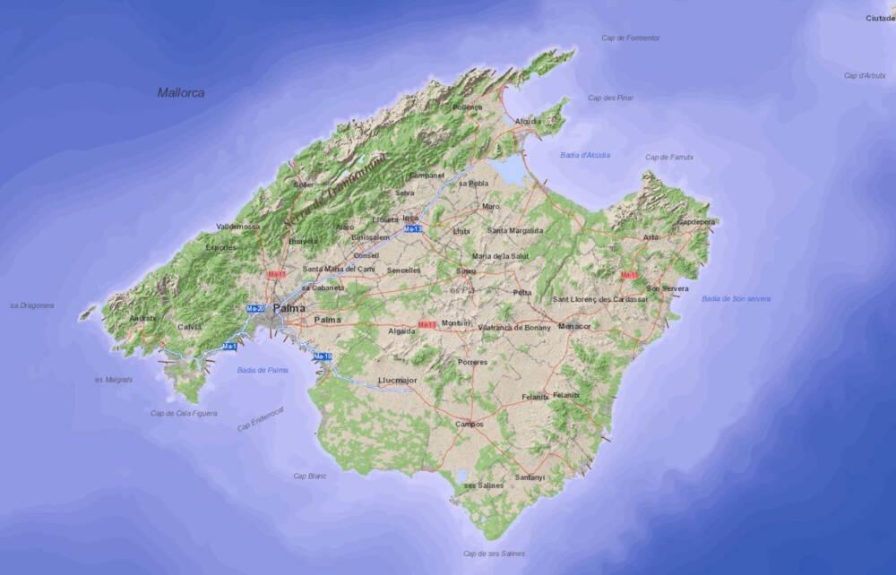 Mallorca Abwasserkarte