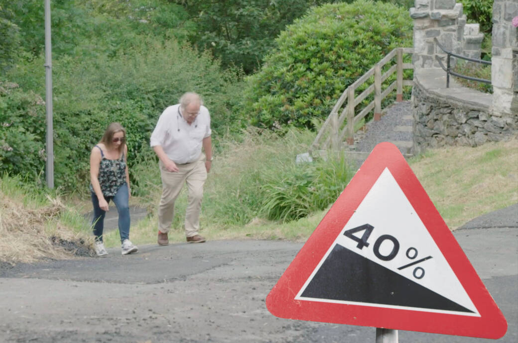 Steilste Straße der Welt in Wales