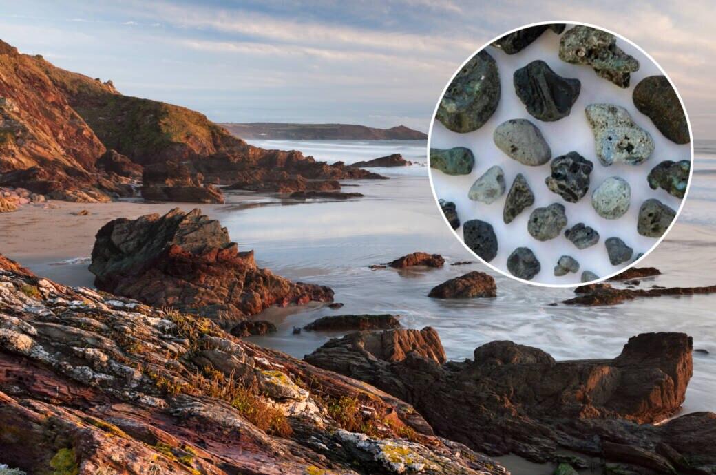 Strände in England sind voller Plastik, das wie Steine aussieht