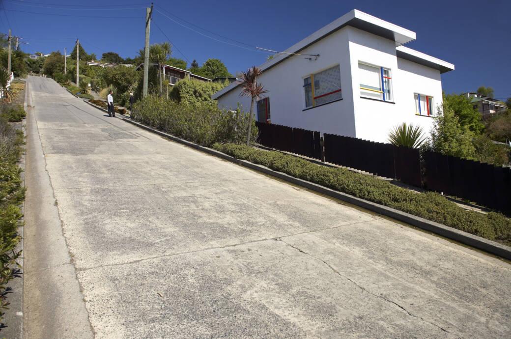 Baldwin Street – die steilste Straße Neuseelands