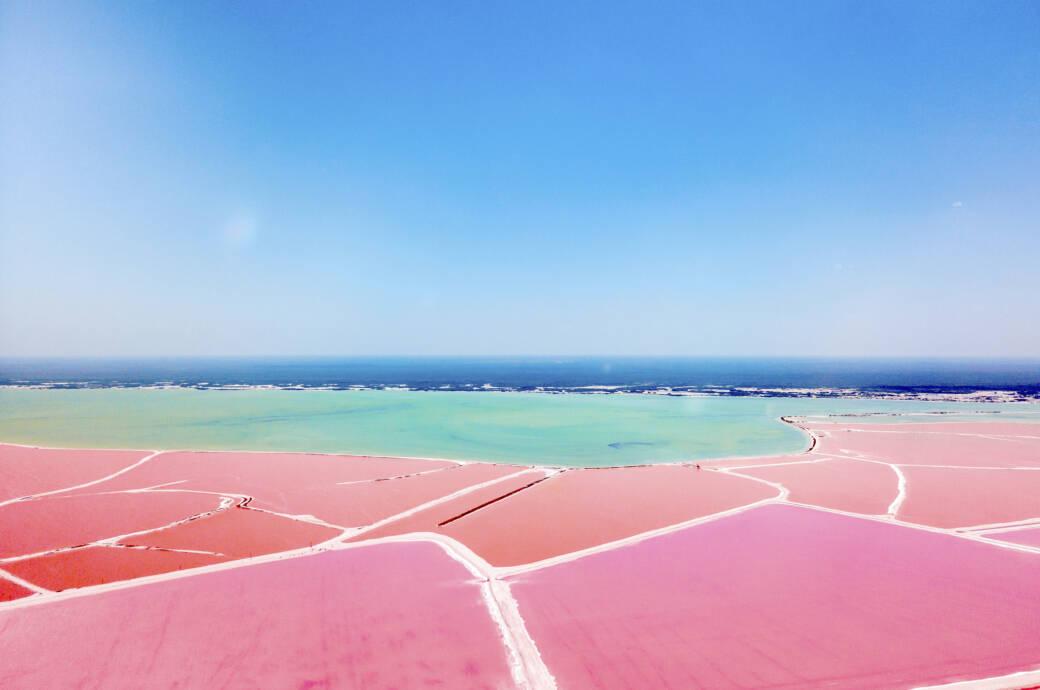Las Coloradas – der wohl schönste See der Welt