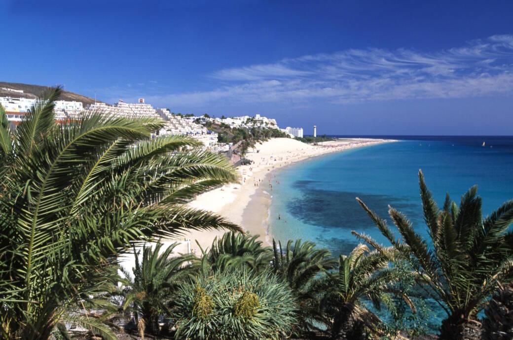 Strand von Morro Jable, Fuerteventura, Kanarische Inseln, Spanien, Europa