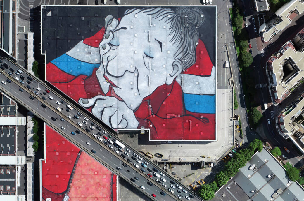 Das größte Street-Art-Kunstwerk Europas