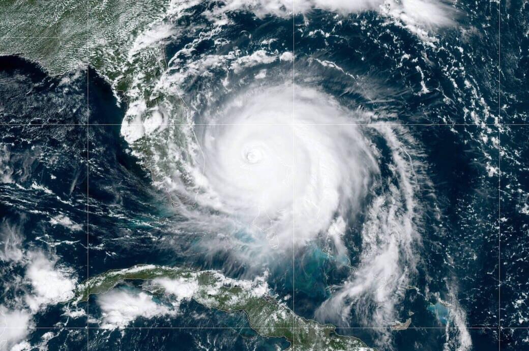Hurrikan Dorian von oben