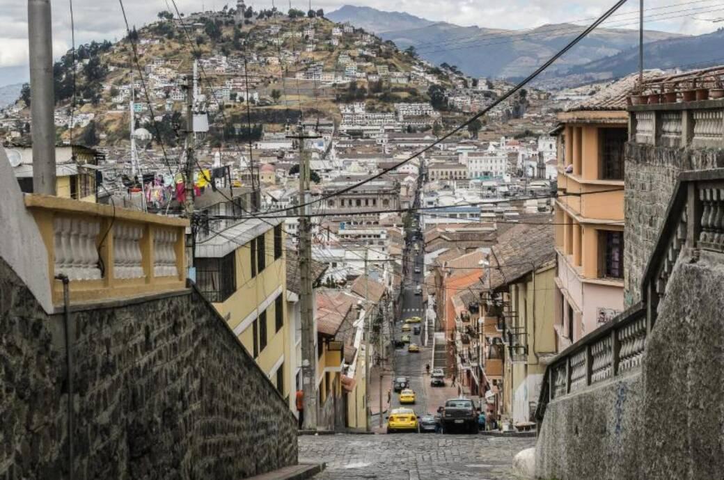 Straße in Quito