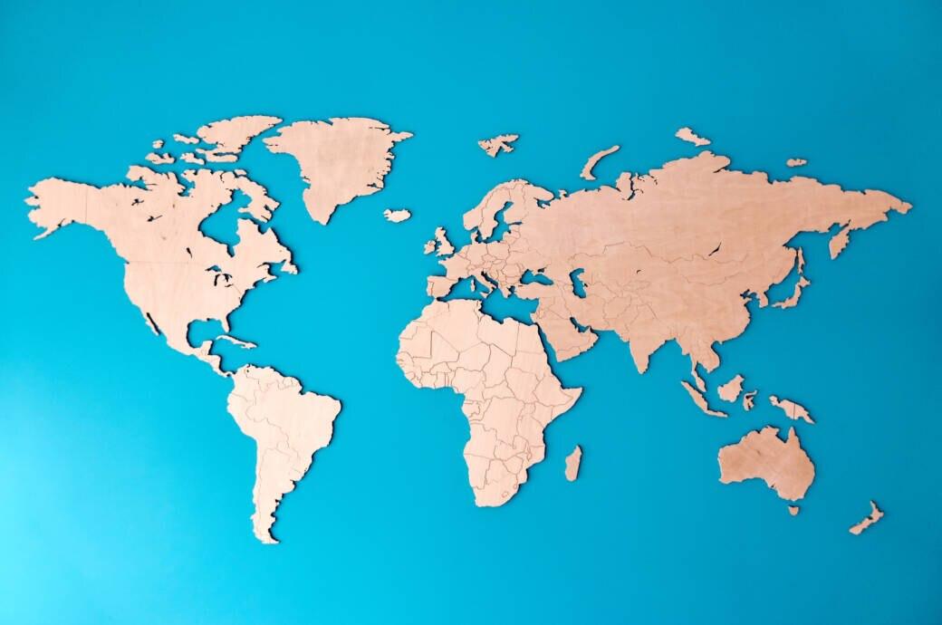 Kennen Sie die Lage dieser 12 Länder auf der Weltkarte?