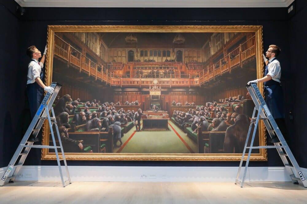 Auktionshaus Sotheby's versteigert Banksy-Kunstwerk