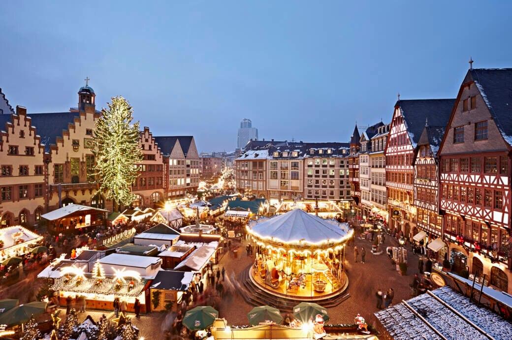 Der Weihnachtsmarkt in Frankfurt