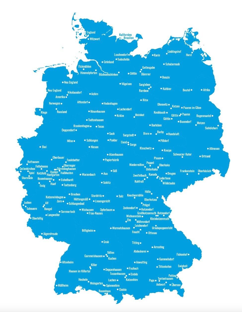 Zum Kaputtlachen Die Witzigsten Ortsnamen Deutschlands Travelbook