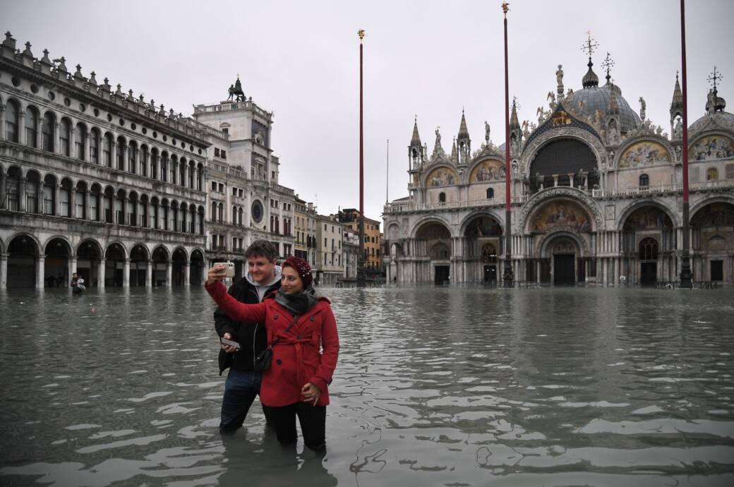 Neues Hochwasser droht Venedig - Unwetter in ganz Italien