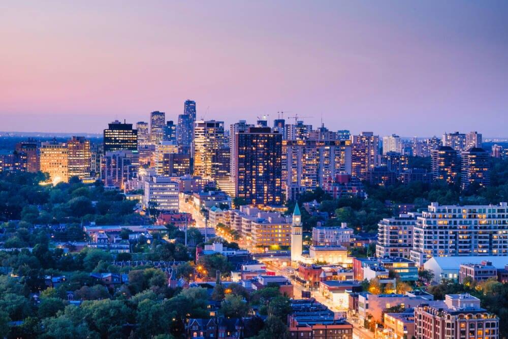Die Yonge Street beginnt in der kanadischen Metropole Toronto
