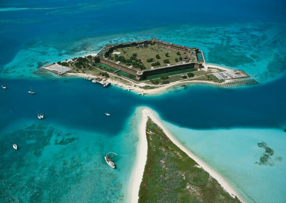 Fort Jefferson liegt auf einer der Inseln im Dry Tortugas Nationalpar