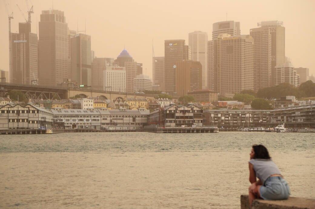 Sydney in Rauch gehüllt