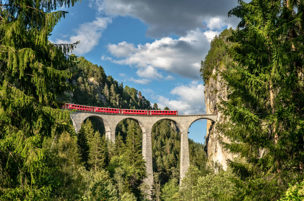 Wer mit dem Zug quer durch Europa fährt, sieht einige schöne Strecken